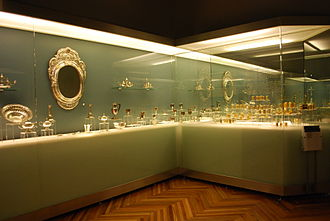 Franz Mayer Museum - One of the displays of silver items