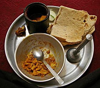 Abgoosht - A simple Dizi dish during consumption