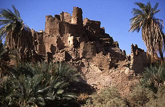 History of Niger - Ruins of the trade oasis of Djado in northeast Niger.
