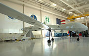 One of the new 214th Reconnaissance Group's General Atomics MQ-1B Predator UAV aircraft (04-555)