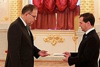 Dmitry Medvedev ambassador Pierre Ferring.jpg