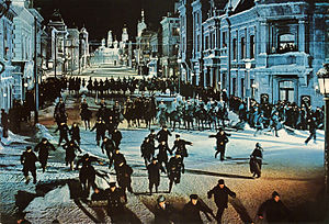 Doctor Zhivago (film) - The Cossacks attack a peaceful demonstration.