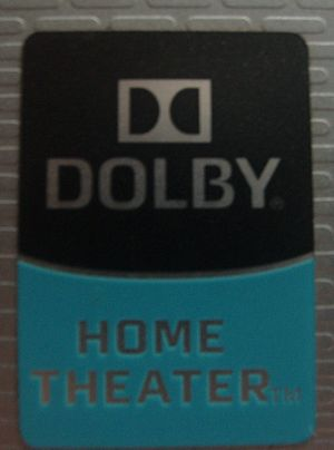 Dolby Digital - A Dolby home theater badge on a laptop