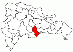 Location of the San Cristóbal Province