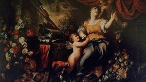 Domenico Piola - Allegory of peace and abundance, with Stefano Camogli