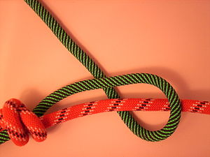 Double fisherman's knot - Image: Doppelter Spierenstich 1