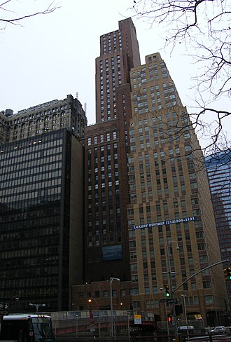 Downtown Athletic Club - The Downtown Club, pictured as the tallest red-bricked building in the middle.