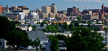 Downtown of Portland, Maine. Taken from North ...