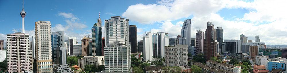 Pandangan Panorama Dari Pusat Bandar Kuala Lumpur Gambar Diambil Hotel Di Kawasan Changkat Bukit Bintang