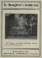 """Dr. Broughton's Sanitarium (""""American medical directory"""", 1906 advert).png"""
