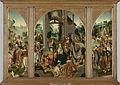 Drieluik met de aanbidding der koningen (middenpaneel en binnenzijde vleugels), de heilige Antonius Abt (buitenzijde linkervleugel) en de heilige Adrianus (buitenzijde rechtervleugel) Rijksmuseum SK-C-1364.jpeg
