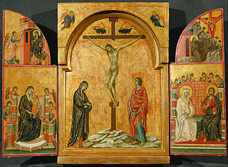 Triptych: Crucifixion and other Scenes