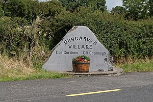 Dungarvan, County Kilkenny - Entrance sign