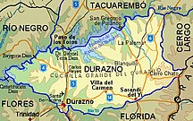 Durazno Department-Map of the department-Durazno Department map
