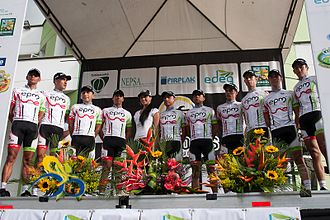 EPM (cycling team) - Image: EPM UNE