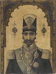 Early Portrait of Nasr al-Din Shah (reigned 1848-1896)