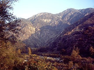 Eaton Canyon canyon in the San Gabriel Mountains in Los Angeles County, California
