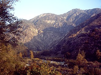 Eaton Canyon - Eaton Canyon with toll road bridge in background