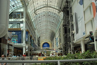 Shopping mall - The interior of the Toronto Eaton Centre in Toronto, Ontario, Canada.