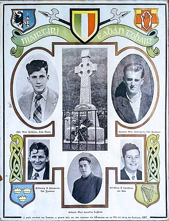 Border Campaign (Irish Republican Army) - Commemorative plaque to the Edentubber Martyrs, killed in November 1957