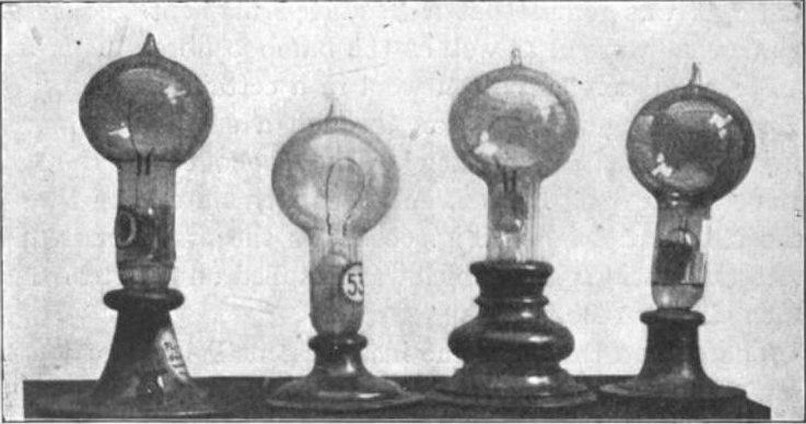 Edison incandescent lights