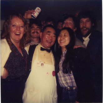 Edsel Ford Fong - Edsel Ford Fong with his customers in 1982