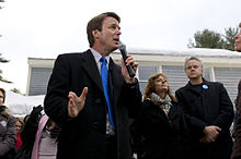 Sarandon and Tim Robbins appear alongside John Edwards at a presidential campaign rally in 2008