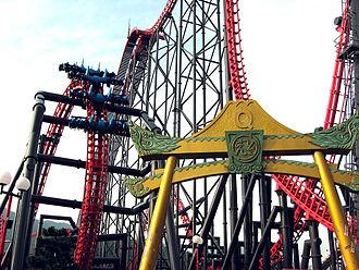 Eejanaika (roller coaster) - Image: Eejanaika coaster Fuji Q 1024