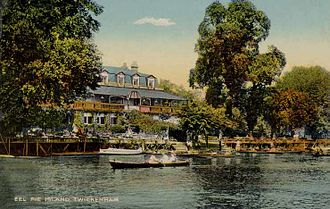 Eel Pie Island - A 1900 postcard of the Eel Pie Island Hotel