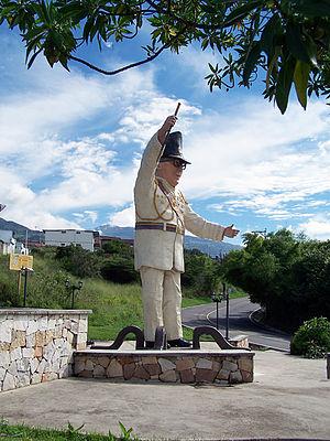 Marcos Pérez Jiménez - Statue of Marcos Pérez Jiménez in Michelena, Táchira