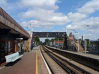 Egham railway station - Image: Egham Station 2009