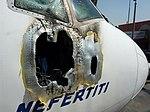 EgyptAir Flight 667 fuselage damage - 29 July 2011.jpeg