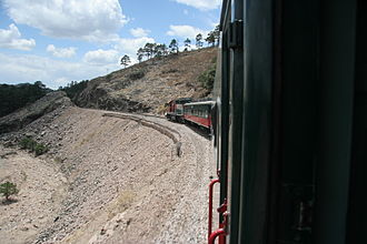 Ferrocarril Chihuahua al Pacífico - El Chepe half way between Anáhuac and Creel; 16 May 2006