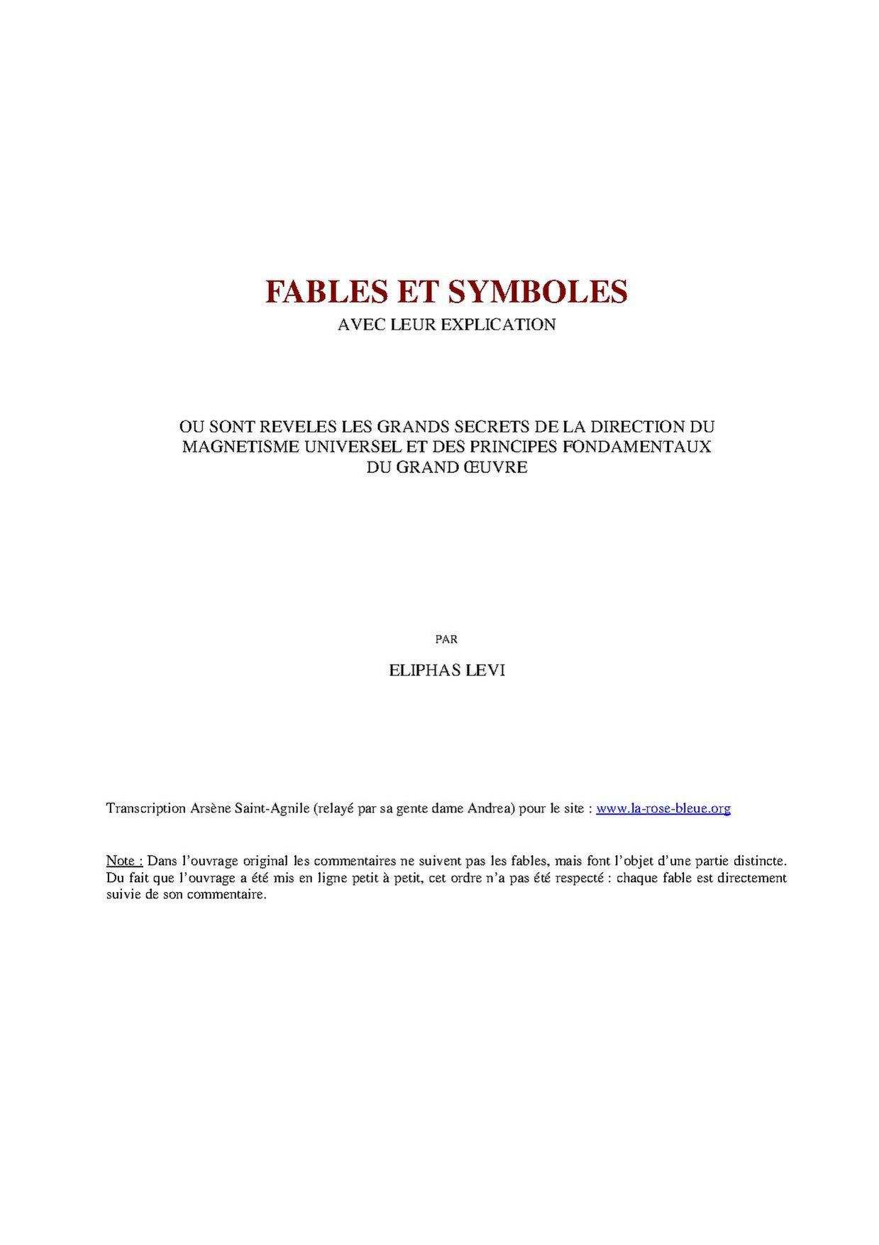 Eliphas Levi - Fables et Symboles.pdf