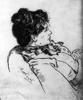 Elizabeth Robins Pennell - Sketch of Pennell by her husband Joseph