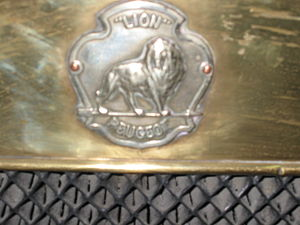 Lion-Peugeot - The Lion-Peugeot badge on a Lion-Peugeot VA