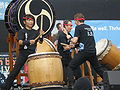 Emeryville Taiko performing at 2008 SFIDBF 09.JPG