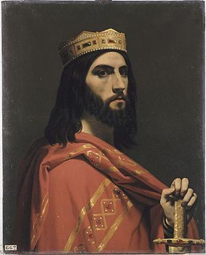 Émile Signol - Émile Signol, Dagobert I, king of Austrasia, Neustria and Burgundy, oil on canvas, 1842, 90 × 72 cm. Musée National des châteaux de Versailles et de Trianon