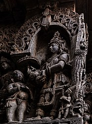 Emperor Mahabali with Vamana avatar of Vishnu.jpg