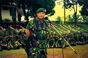 Endriartono Sutarto Commander of TNI