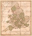 England and Wales - with the principal roads and distances of the county towns for London LOC 85695484.jpg