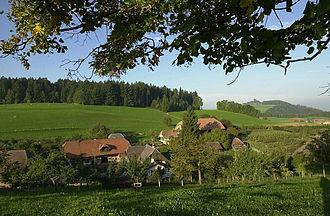 Englisberg - Englisberg, southwestern view