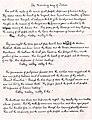 English translation of Jana Gana Mana in Tagore's handwriting page 1.jpg