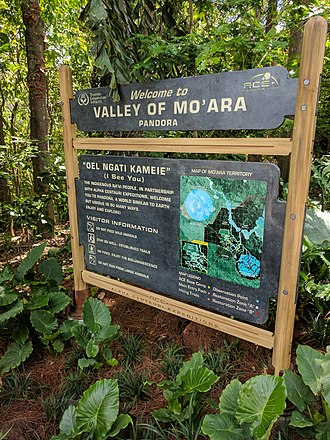 Pandora – The World of Avatar - Guide sign welcoming guests to Pandora.