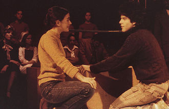 Equus (play) - Lauren Raher and Brad Mays as Jill and Alan in Equus, as directed by Mays in May 1979 in Baltimore