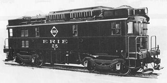 GE boxcab - 800 hp locomotive for Erie Railroad