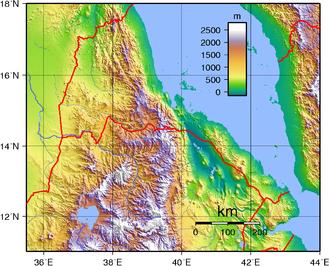 Geography of Eritrea - Topography of Eritrea