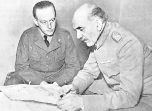 Swedish Volunteer Corps (Winter War) - The Commander of Swedish volunteers General Ernst Linder (right) and his Chief of Staff Carl August Ehrensvärd in Tornio.