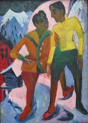 1921 in art - Image: Ernst Ludwig Kirchner Zwei Brüder M. (Mardersteig) 1921 1
