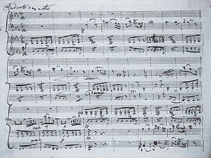 Piano Trio No. 2 (Schubert) - E-flat major Klaviertrio op. 100, 2. Satz (Autograph)